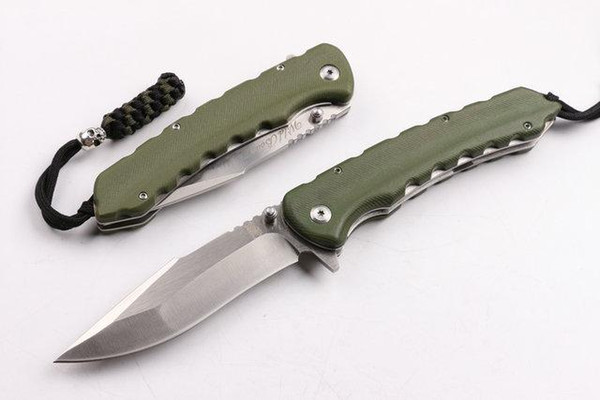 wild boar SZ001A D2 60-62HRC CNC army green G10 SZ001A Tactical Hunting Knife Multi Tools Pocket Survival Fixed Knives gift knife 1pcs