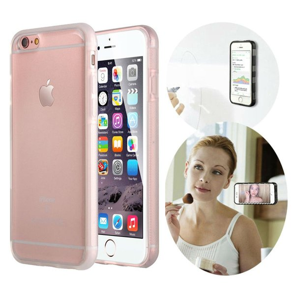 2017 Fashion Wholesale Transparent Anti Gravity Magical Nano Sticky TPU Case Cover For iPhone 6 6S Plus 7 7 Plus 5S Free Shipping
