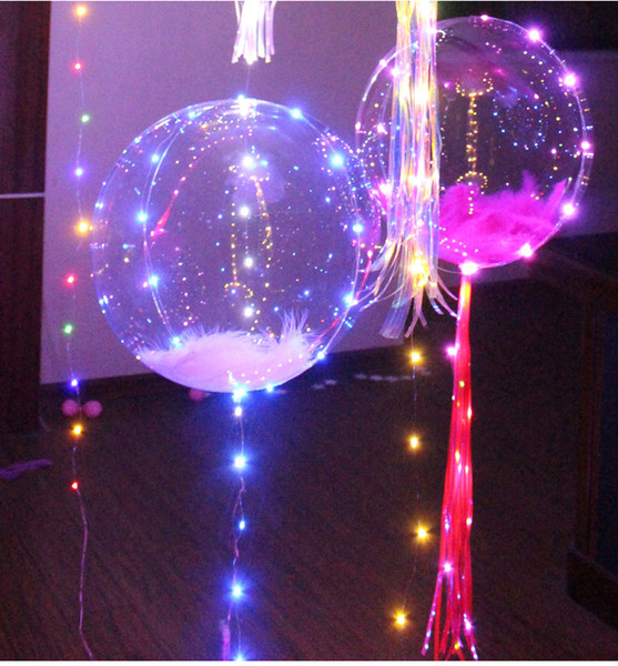 2017 Colorful LED light Helium balloons Christmas Multi color party decorations children favorite balloon 18 inch