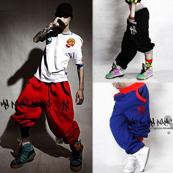 Atacado-2016 verão marca fina NY calças Hip-hop Rap Parkour sweatpants fertilizante harem fitnes calças calças de dança HIPHOP casuais