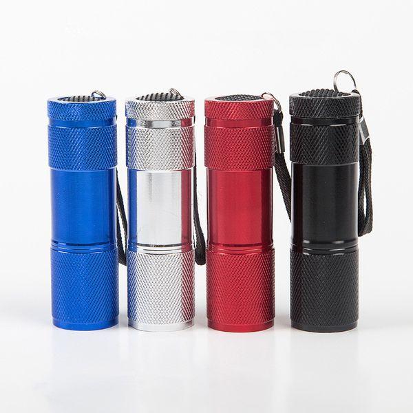 LED UV Ultra 9LED Aluminium Mini Portable UV Ultra Violet Blacklight 9 LED Flashlight Torch Light