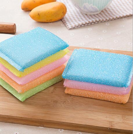 colorful multi-functional magic sponge erasers for bowel dish washing cleaning cloths tableware kitchen sponge random color