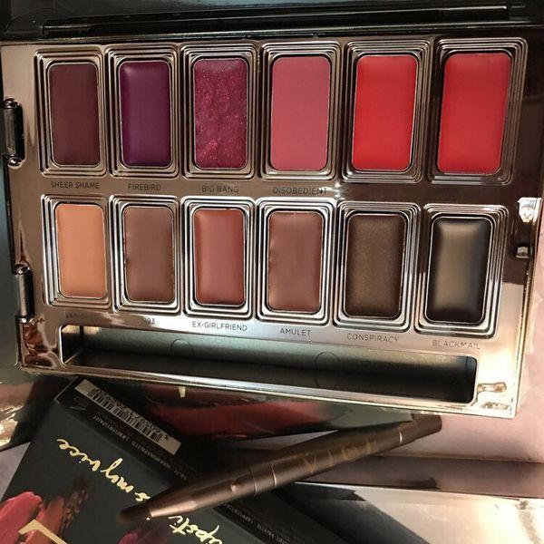 2017 Blackmail Vice Lipstick 12 Colores Brillo de Labios Palette Cream Lip Makeup Cosméticos de Larga Duración Edición Limitada Lip Gloss Palette