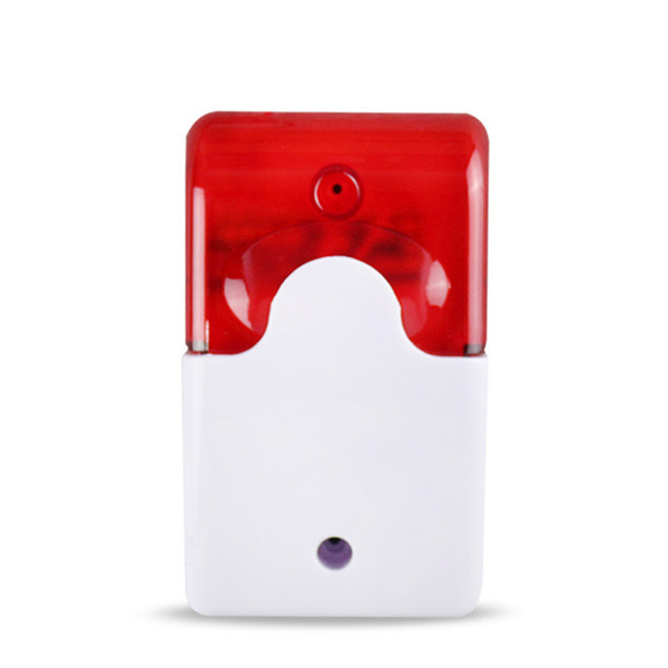1Sets Mini Wired Strobe Siren Durable 12V Sound Alarm Strobe Flashing Red Light Sound Siren Home Security Alarm System 110db