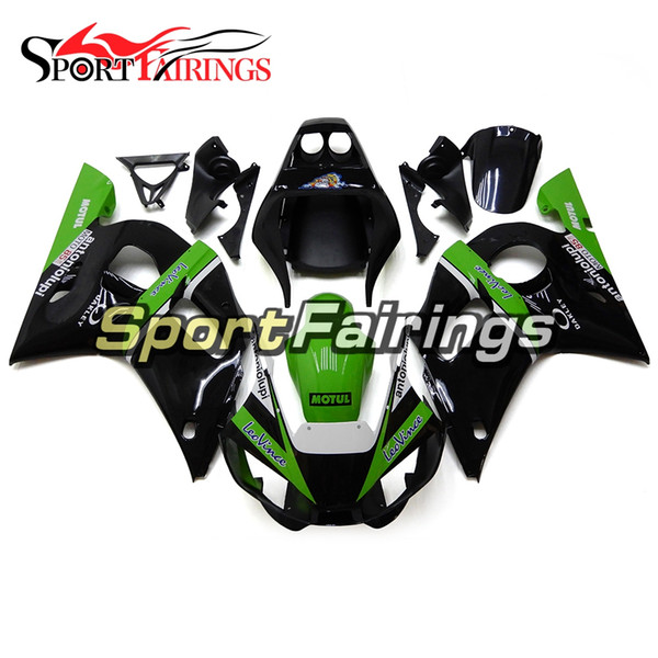 Fairings For Yamaha YZF600 R6 YZF-R6 Year 1998 2002 98 99 00 01 02 ABS Motorcycle Fairing Kit Bodywork Motorbike Cowling Green Black Covers