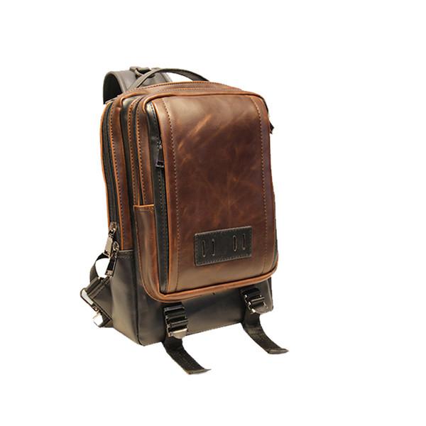 Großhandelsmann-Schultertasche-Qualitäts-Crazy Horse Leather Messenger Schultergurt-Beutel-Art und Weise beiläufige Klappe bauscht sich für Mann SP6561