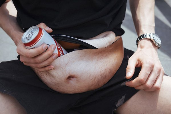 Facbook Hot Dad Bag Funny Pack Your Dreams Dadbag Beer Belly Dad Bod Case Universal Flesh Colored Beer Fat Outdoor Pockets Free Shipping