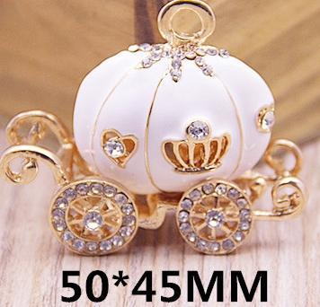 5PCS, Enameled car charm pendant, 50x45mm, jewelry findings