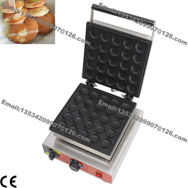 Commercial Use Non-stick 110v 220v Electric 25pcs Dutch Poffertjes Mini Pancake Maker Iron Baker Machine Grill Mold Plate