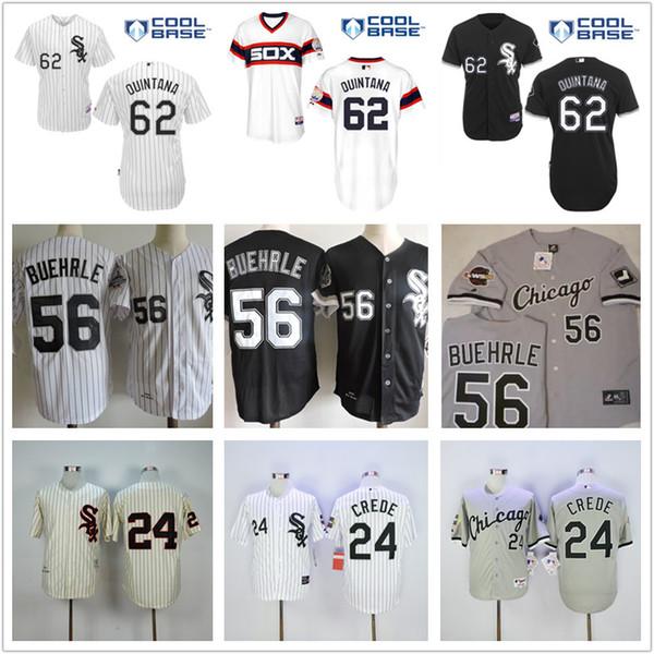 sox baseball jersey throwback mn black gray white. 2017 mens 56 mark buehrle 62 jose quintana 24 joe crede cheap chicago white