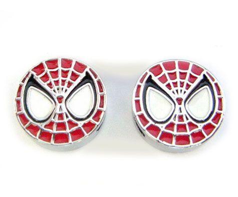 İç Çap 8 MM Emaye Spiderman Slayt Charm DIY Alaşım Aksesuarları Telefon Şeritler Deri Bileklik Kolye Için Fit