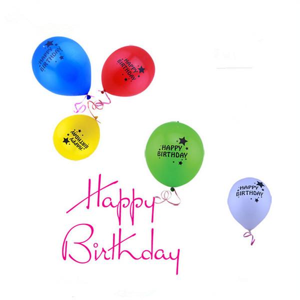 Led Happy Birthday Balloons Light Up Balloon Glow In The Dark Ballons Cumpleanos Decorations Latex