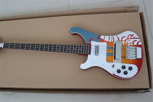 Left Handed Wholesale Custom 4003 Bass 4 strings Electric Bass Guitar Deluxe Strips Chinese guitar