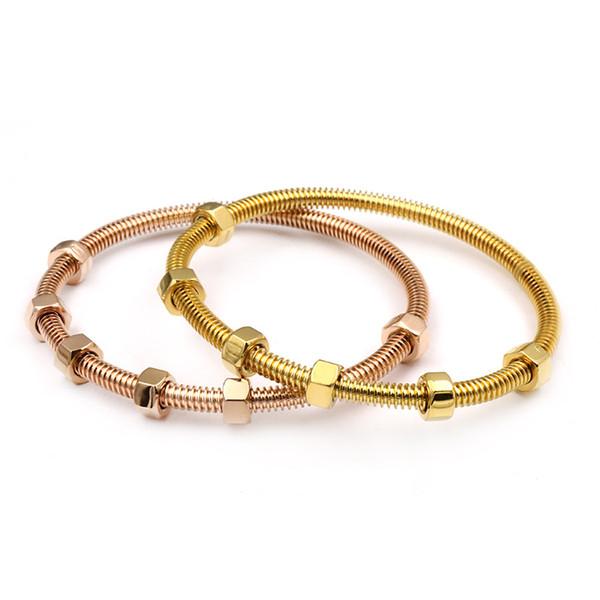 Fashion2017 the latest 6 screws bracelet titanium steel ladies male and female couple thread love bracelet&banlge for women jewelry