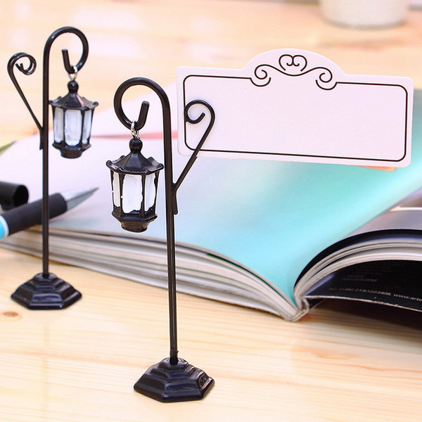 Wedding Miniature Vintage Streetlight Table Marker Holder Clips Easel Table Number Place Name Photo Card Stand DHL Free Shipping
