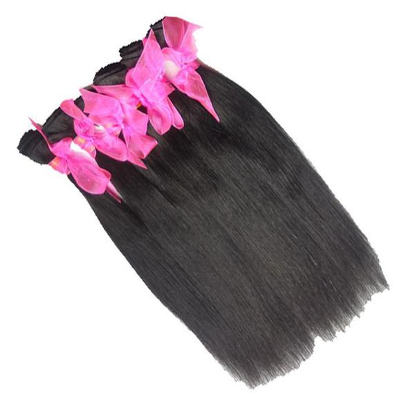Brazilian Peruvian Malaysian Virgin Straight Hair, 6 pieces/lot ,12-30 inch, Virgin Human Hair Extensions, 100% Human Hair Weft