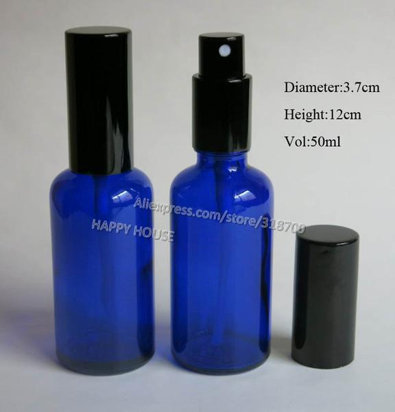 Bouteille d'huile en verre bleu cobalt 360 x 50 ml, bouteille en verre pulvérisateur 5/3 oz, atomiseur en verre d'huile 50 cc