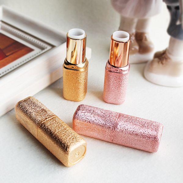 12.1mm Golden Gleam Luxo Brilho Vazio Batom Lipgloss Tubo Caso Maquillage Maquiagem Embalagem para As Mulheres 20 pcs