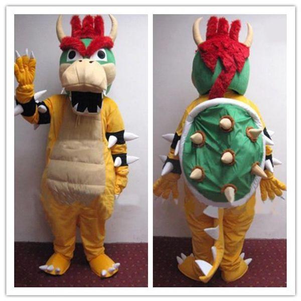 Rei Bowser Traje Da Mascote personalizado personagem de desenho animado cosply tamanho adulto carnaval fantasia fancy party party kits1636