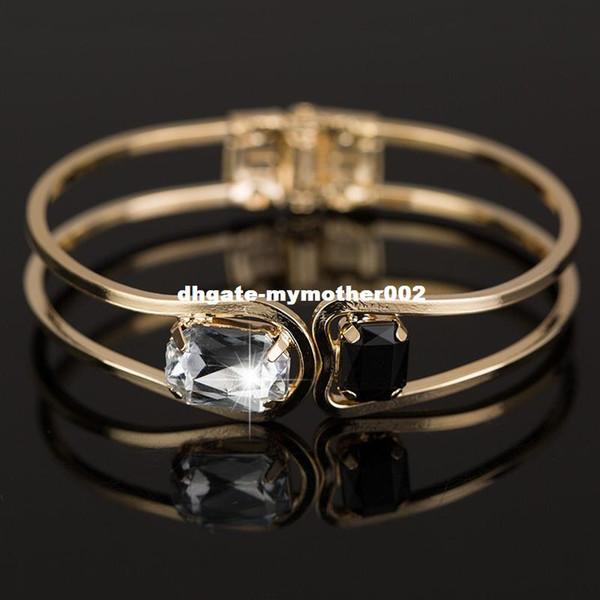 YFJEWE Fashion Women Bracelet gold color Elegant Jewelry Fashion Bud Crystal Bracelets Bangles Christmas Gifts For Women B004