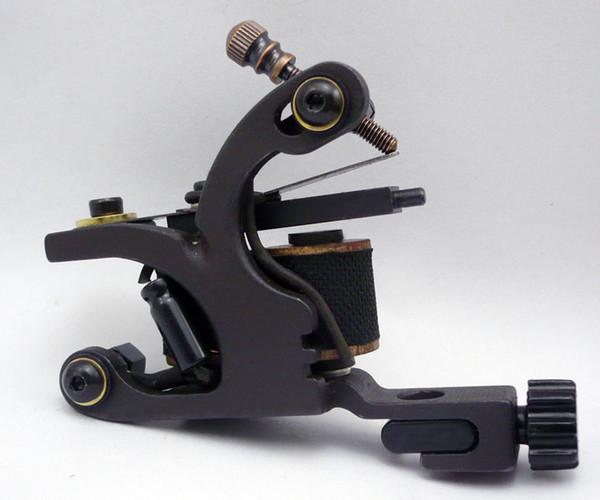 Professional Handmade Tattoo Machine 10 Wrap Coils Iron Cast Frame ...