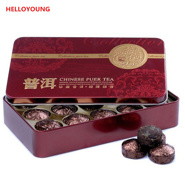 Wholesale Glutinous Rice Fragrant Mini Tuocha Tin Packaging Pu'er Tea China Yunnan Green Puer Tea Puerh Gift health te