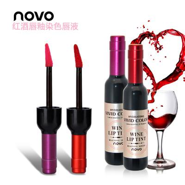 Factory Direct Price Free Shipping New Makeup Lip Popfeel Bottle Of Red Wine Lipstick Waterproof Lip Gloss 6 Colors Lipgloss Cosmetics