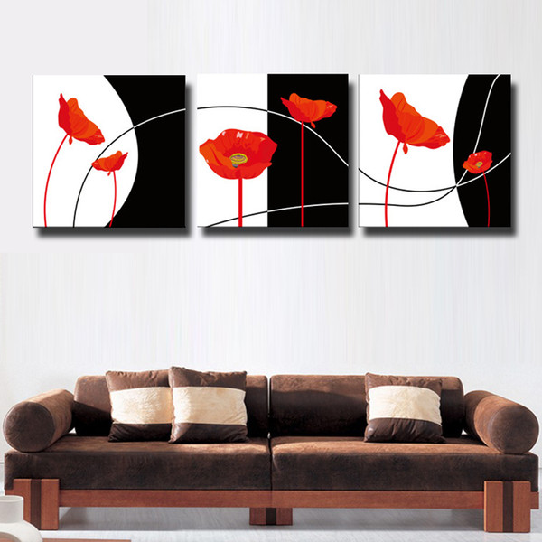 3 Pcs/Set impression black and white Canvas Wall Art Pictures Paint on Canvas Painting for Home Office Decorations#119