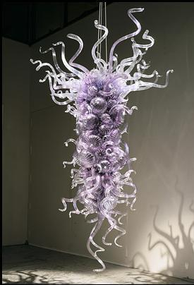 New Design Chinese Pendants Cheap Art Glass Energy Saving Modern Murano Glass Chihuly Style Purple Smart Ceiling