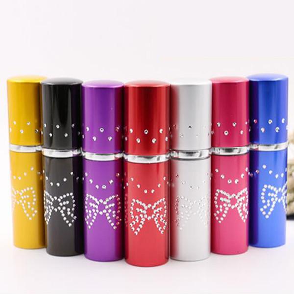 10ML Butterfly Aluminium Parfümflasche, 10CC Mist Spray Parfum Zerstäuber, Parfüm Refillabe Portable Flasche, Aluminium + Glas