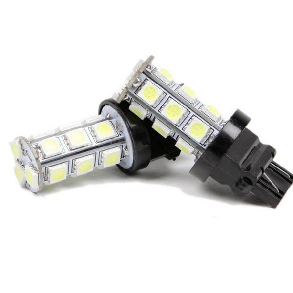 100pcs T20 18-SMD 5050 LED Stop Coda Freno Reverse Backup Car Light Turn Lampadina del segnale