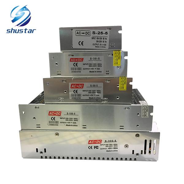 DC 5 V aydınlatma transformatörleri 4A 5A 6A 10A 20A 40A 60A led güç kaynağı AC110-240V için led şerit
