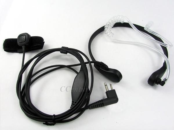 Wholesale- 2-Pin FBI Security Throat Microphone Mic Earpiece Headset for Two Way CB Radio Motorola CP040 CP125 CP200 CP140 EP450 GP300