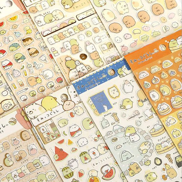 top popular Wholesale- 48pcs lot New Japanese sumikko gurashi Funny Fresh Friends Gilding style Paper Sticker DIY Note sticker Decoration label  GT262 2020