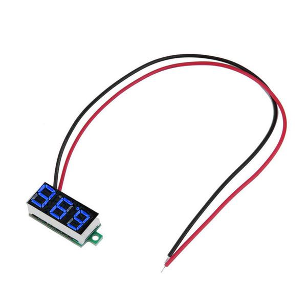 """top popular 0.36"""" DC 3.5-30V Super Mini Digital Green LED Car Voltmeter Voltage Volt Panel Meter battery monitor 2021"""