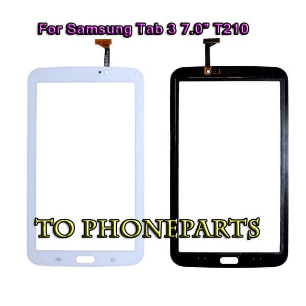 20Pcs Touch Screen Digitizer Glass Panel per Samsung Galaxy Tab 3 7.0 T210 T211 bianco nero parti di ricambio per la riparazione