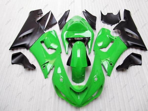 Plastic Fairings Ninja ZX-6r 2006 Body Kits ZX6r 636 2005 Green Black Full Body Kits for Kawasaki ZX6r 05 2005 - 2006
