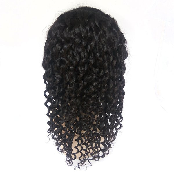 in Stock Wig Deep Wave Hair 150% Density Full Lace Wig Brazilian Human Hair Natural Hairline Lace Wigs