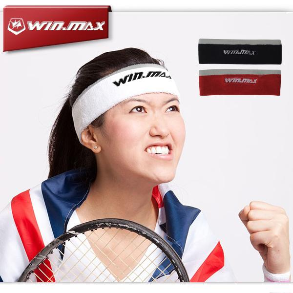 WINMAX Sweat Band New Breathable & Elastic Cotton Towel Head Sweat Band for Tennis Badminton Basketball Running Sports Sweatband