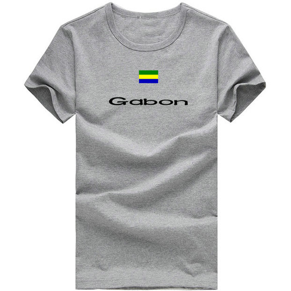 Gabon T shirt Outdoor sport short sleeve Fashion classic tees Nation flag clothing Unisex cotton Tshirt