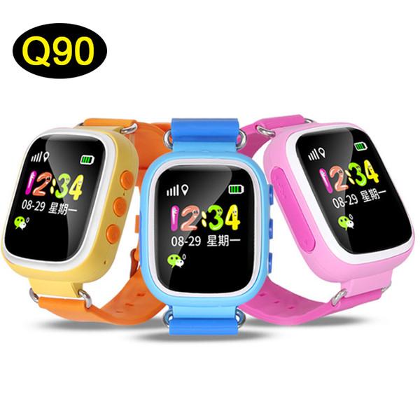 Nouveau Q90 Bluetooth GPS Suivi Smartwatch Écran Tactile Avec WiFi LBS pour iPhone IOS Android SOS Appel Anti Perdu SmartPhone DHL OTH479