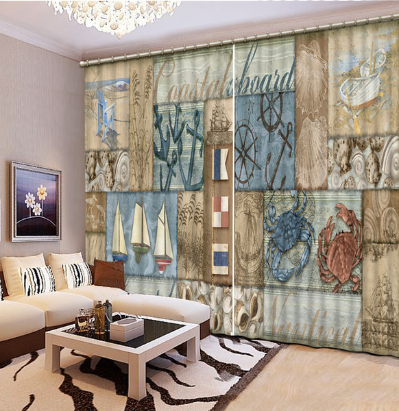 High Quality Customize size Modern return letter custom curtain fashion decor home decoration for bedroom living room curtain