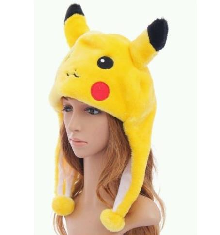 Pokemon Go Pikachu Fancy Costume Warmer Hat Cap Beanie Unisex Mask Adult Kids