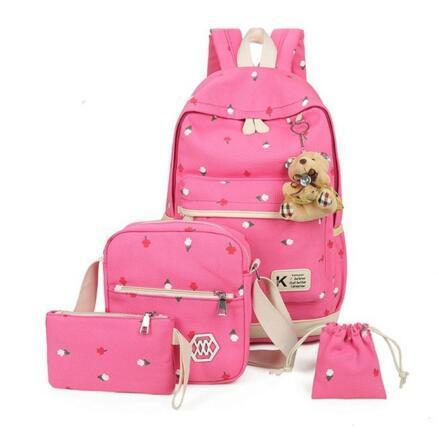 Mochila de Lona Mulheres Bonito Mochilas Escolares para Meninas Adolescentes Moda Laptop Bag Mochila Bagpack Mochila Feminina