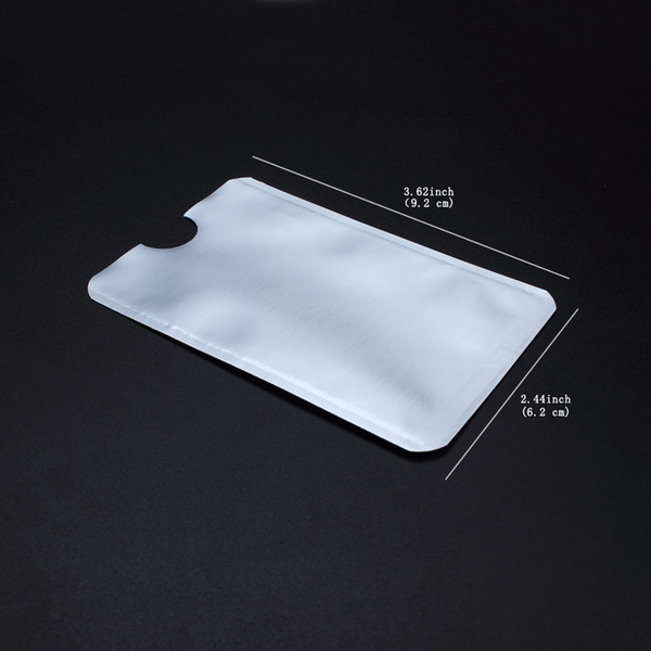 top popular Aluminum foil Security Card Shield Credit Card RFID Protection Anti-Theft & Security Sleeves Protector Shield Waterproof Security Card 2019