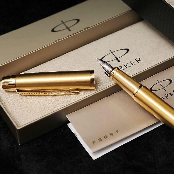 Stylo plume en acier de marque Parker en métal stylo encre de marque de luxe avec boîte-cadeau pour le cadeau d'affaires Personnaliser Logo Livraison gratuite 904