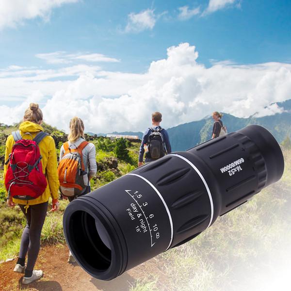 2017 16X52 Télescope Monoculaire Extérieur Double Focus Zoom Optique Objectif Jumelles Lunette Spotting Scent Lentilles Optique Double Focus
