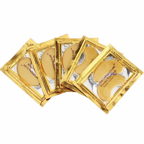 40 قطع (20 زوج) الذهب كريستال الكولاجين النوم قناع العين hotsale بقع العين المسكرة الخطوط الدقيقة العناية بالوجه العناية بالبشرة