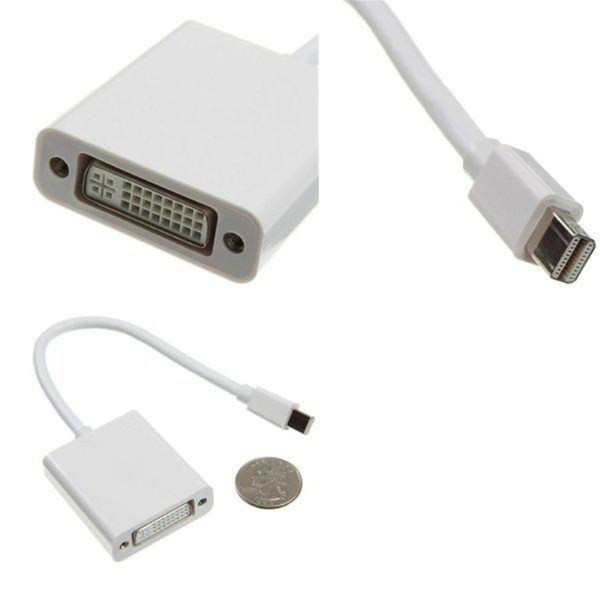 Wholesale - New Mini Displayport Display Port DP to DVI Adapter Cable for MacBook Air Pro Mac