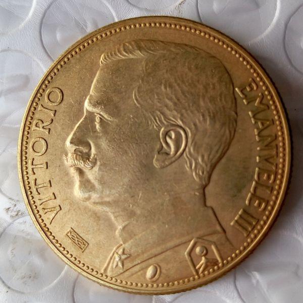 Italia 100 liras (son falsas) 1912 monedas Gold Copy Coin accesorios de decoración del hogar precio de fábrica barato